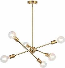 6 Lights-Modern Sputnik Chandelier Lighting