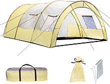 6 man tent - beige/grey