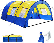 6 man tent - blue/yellow