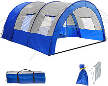 6 man tent - grey/blue