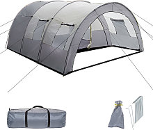 6 man tent - light grey/dark grey