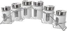 6 of Jars Free-Standing Spice Rack Symple Stuff