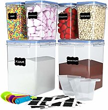 6 Pack Airtight Food Storage Container Set -