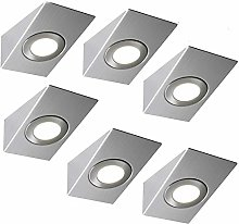 6 Pack | Bright 2.6W LED Under Cabinet Wedge Spot