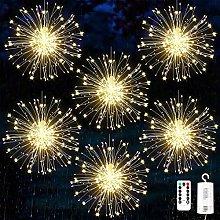 6 Pack Firework Lights, 120 LED Starburst Lights,