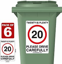 6 Pack of 20 Is Plenty Speed Reduction Wheelie Bin