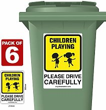6 Pack of Children Playing Please Drive Carefully
