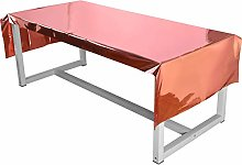 6 Pack Rose Gold Plastic Tablecloth 39 x 106 Inch
