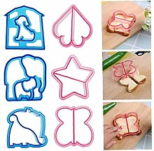 6 Pack Sandwich Cutters and Bread Crust Shape
