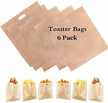 6 Pack Toaster Bags Reusable, Perfect for Grilled