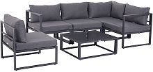 6 Pc Outdoor Sectional Sofa Set Conversation
