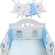 6 PCS Baby Cot Bumper Cotton Breathable Wrap