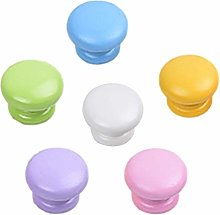 6 Pcs Colorful Solid Wood Drawer Cupboard Pulls