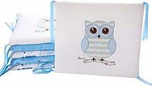 6 Pcs Cotton Baby Cot Bumper Breathable Cradle