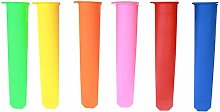 6 Pcs Ice Lolly Moulds, Silicone Ice Pop Maker