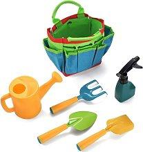 6 Pcs Kids Gardening Tools Set, Watering Kettle