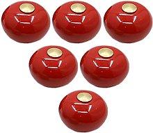 6 pcs Red Cartoon Furniture Handles Wardrobe