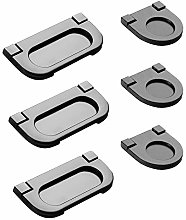 6 Pcs Stainless Steel Invisible Door Handle