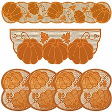 6 Pcs Thanksgiving Decorations Set, Table Runner