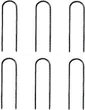 6 Pcs U Shape Ground Anchors Trampoline Stakes