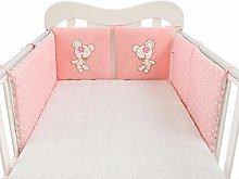 6-Piece Baby bedding bed circumference, pink star