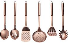 6-Piece Copper Plated Kitchen Tool Se