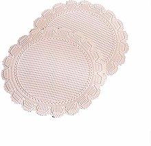 6-piece Placemat Round, Kitchen Table Insulation
