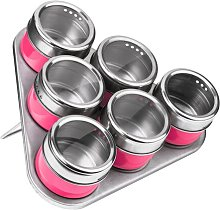 6 Piece Spice Jar Set with Tray Symple Stuff