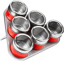 6 Piece Spice Jar Set with Tray Symple Stuff