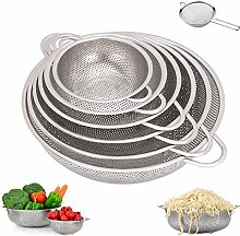 6-Piece Stainless Steel Mesh Micro-Perforated