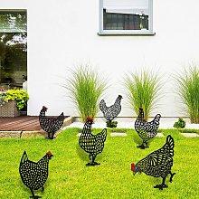 6 Pieces Chicken Yard Garden Decoration Chicken
