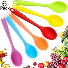 6 Pieces Multicolored Silicone Spoons Nonstick