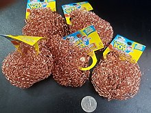 6 Pieces Of Chore Boy Copper Scouring Pad 100%