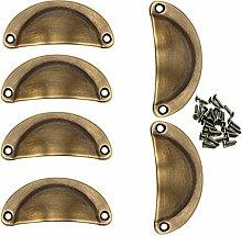 6 Pieces Shell Cup Handles, Retro Pure Copper