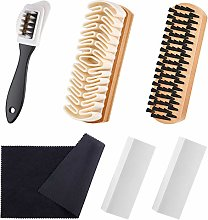 6 Pieces Suede and Nubuck Brushes Kit Includes 1