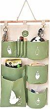 6 Pockets Wall Door Hanging Storage Pockets