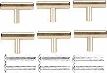 6 Sets Gold Space Aluminum European Style Cabinet