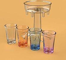 6 Shot Glass Dispenser and Holder, Drinks