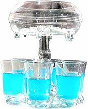 6 Shot Glass Dispenser and Holder with Glasses, 6