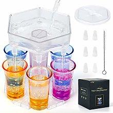 6 Shot Glass Dispenser, Drink Dispenser and Holder