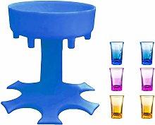 6 Shot Glass Dispenser with Cups,FunGatto Shot