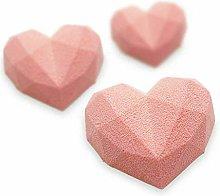 6 Small Love Cake Mold Silicone Mold Cake