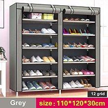 6 Tier Double Shoe Rack Storage Shoes Organiser