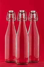 6 x 1 Litre Glass Bottles with Swing Tops - 1000ml