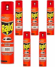 6 x 300ml Raid Ant & Cockroach Intant Killer Spray