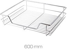 6 x 600mm Pull Out Chrome Wire Basket Drawers for