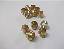 6 x 6mm Brass Olives Compression Pipe Fitting