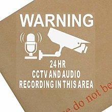 6 x CCTV Camera & Audio Recording Area-87mm-Video