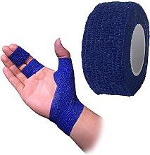 6 x Cohesive Bandage, 2.5cm x 4.5m, Blue