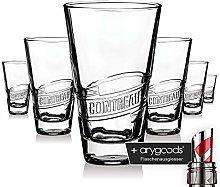 6 x Cointreau Glass Glasses Liqueur Relief Design